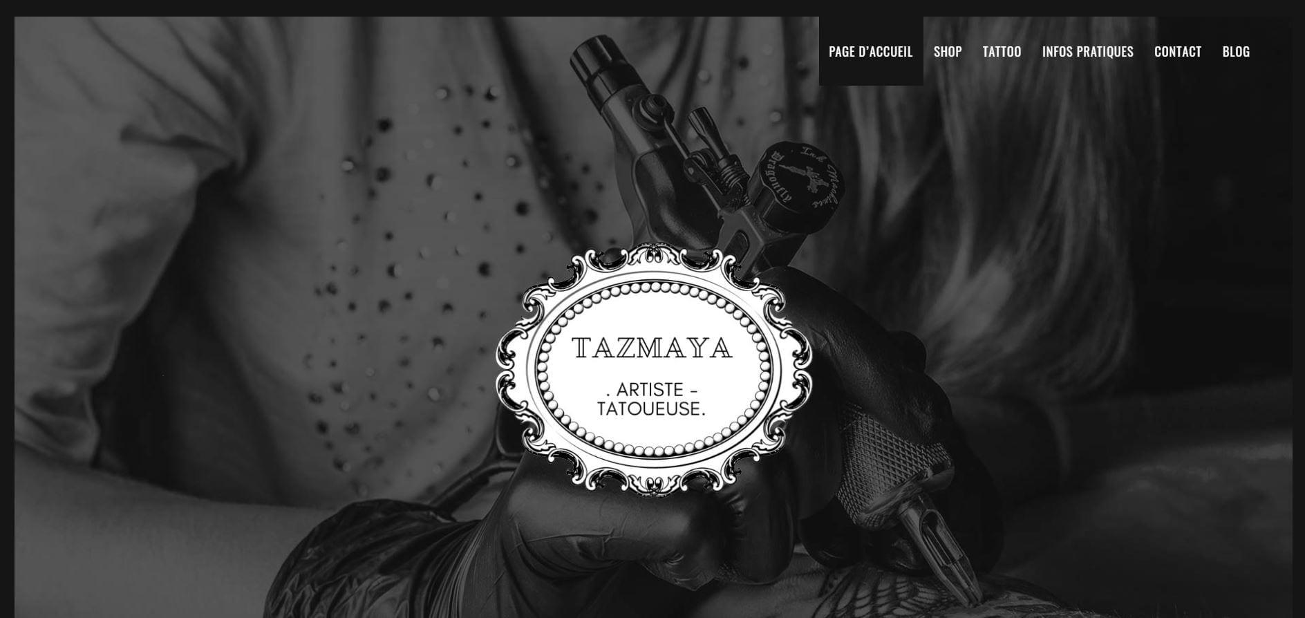 tazmaya tattoo website